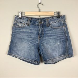 Gap denim shorts 4 distressed
